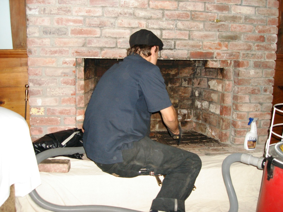 Cleaning A Fireplace Charming