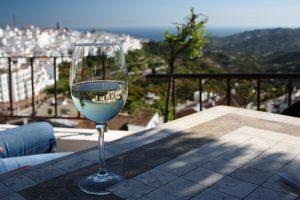 clean wine glass
